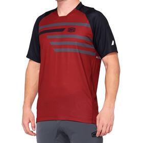 100% Celium Enduro/Trail Jersey Heren, rood/zwart